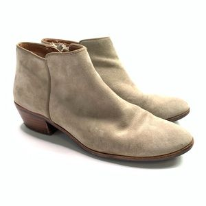 Sam Edelman Booties Suede Taupe Size 8